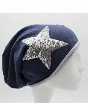 Springstar Mütze Sofia dünn mit Pailletten Stern