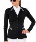 Spooks Turnierjacke Damen New Stripes figurbet. - schwarz