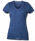 T-Shirt Damen Gipsy Soft V-Ausschnitt - denim