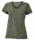 T-Shirt Gipsy Soft Ladies V-Ausschnitt - oliv