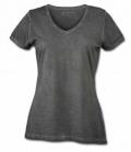 T-Shirt Gipsy Soft Ladies V-Ausschnitt - graphit
