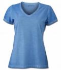 T-Shirt Damen Gipsy Soft V-Ausschnitt - blue
