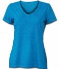 T-Shirt Damen Gipsy Soft V-Ausschnitt - türkis