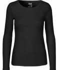 Textil Long Shirt 100%Fairtrade Baumwolle - schwarz