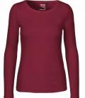 Textil Long Shirt 100%Fairtrade Baumwolle - bordeaux