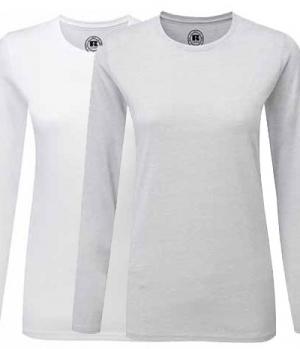 Textil Long Shirt Damen gekämmte Baumwolle