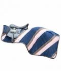 HKM Pausendecke Colour Diagonalstripes - blau-rosa