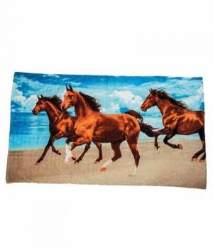 HKM Strandtuch Frottee 3 Pferde