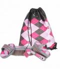 Kerbl Putzbeutel Lilli 4-teilig gefüllt - pink-rosa-