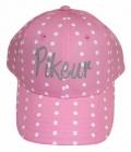Pikeur Cap Kids Logo Punkte Print - rosa
