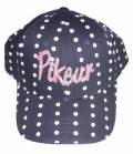 Pikeur Cap Kids Logo Punkte Print - navy