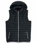 Textil Weste Unisex kontrastfarbig - schwarz
