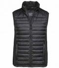 Textil Weste Unisex mit Softshell Einsatz seitl - schwarz