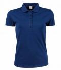 Textil Polo Shirt Damen Stretch Preishit - indigo