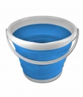 Waldhausen Eimer faltbar Höhen verstellbar 10 Liter - azurblau