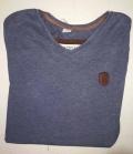 Naketano T-Shirt Herren Schimpanski V-Ausschnitt - bluegey