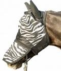 HKM Fliegenmaske Zebra mit Nüsternschutz - Zebra