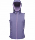 Textil Weste Softshell Hooded  Women - berry/purp