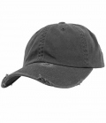 Textil Cap Low Profile Destroyed - dkl.grau