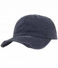 Textil Cap Low Profile Destroyed - navy