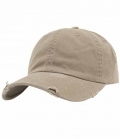Textil Cap Low Profile Destroyed - khaki