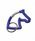 Happy Ross Schlüsselanhänger Pferdekopf Karabiner- - blau