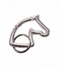 Happy Ross Schlüsselanhänger Pferdekopf Karabiner- - silber