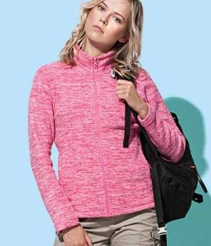 Textil Jacke Fleece Active Melange