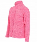 Textil Jacke Fleece Active Melange - pink