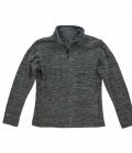 Textil Jacke Fleece Active Melange - anthrazit