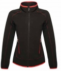 Textil Jacke Damen Fleece Ashmore tail. Schnitt - black/red
