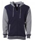 Textil Jacke Hoody Unisex fällt groß aus - navy/grey