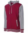 Textil Jacke Hoody Unisex fällt groß aus - burgund/gr