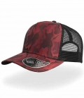 Textil Cap Camou mit Polyester Mesh - burgundy
