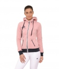 Spooks Sweat Jacke Damen Anne mit Kapuze - rosa