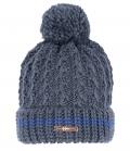 Covalliero Mütze Strick Fleece Innenseite HW´18 - dkl.blau
