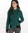 Horseware Jacke Damen Fluffy Softie Fleece - stormgreen