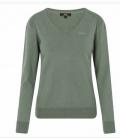 HV Polo Pullover Damen V-Ausschnitt Sandy HW´18 - grün