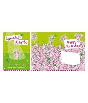 Geburtstagskarte ganz viel Schwein
