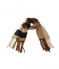 Springstar Schal Jenny mit Perlen kuschelig weich - braun