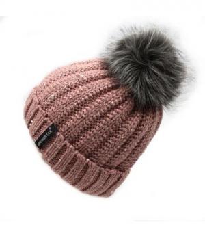 Springstar Mütze Alma mit Fell-Imitat Bommel HW´18
