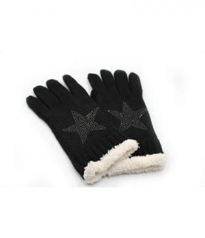 Springstar Handschuhe Tina mit Stern und Fellfutter