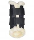 HKM Gamaschen Dressur Comfort Teddyfutter - schwarz