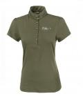 Pikeur Polo Shirt Damen Mina m Pailletten FS´19 - light oliv