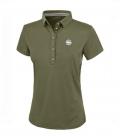 Pikeur Polo Shirt Damen Dasha Funktion FS`19 - light oliv