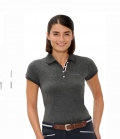 Spooks Polo Shirt Damen Mira Pearls  FS´19 - dkl.grau