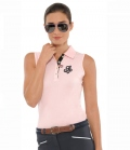 Spooks Polo Shirt Damen Mara ohne Arm  FS´19 - chalkpink