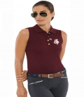 Spooks Polo Shirt Damen Mara ohne Arm  FS´19 - bordeaux