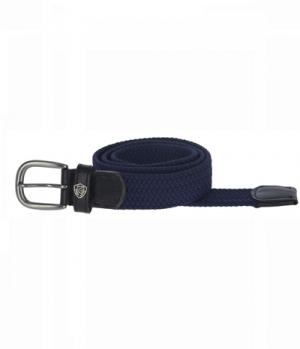 Covalliero Gürtel Nylon elastisch mit Lederelement