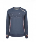 Cavallo Sweat Shirt Damen Malva mit seitl. Zip - darkblue